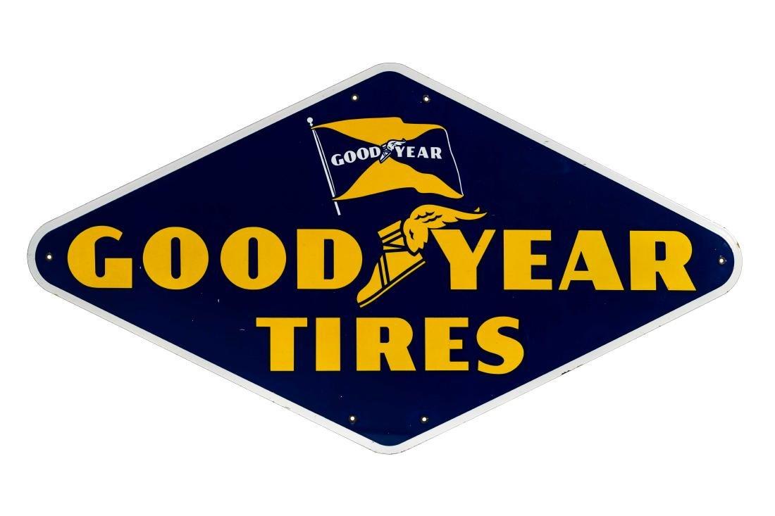 Goodyear Tires Porcelain Diamond Sign