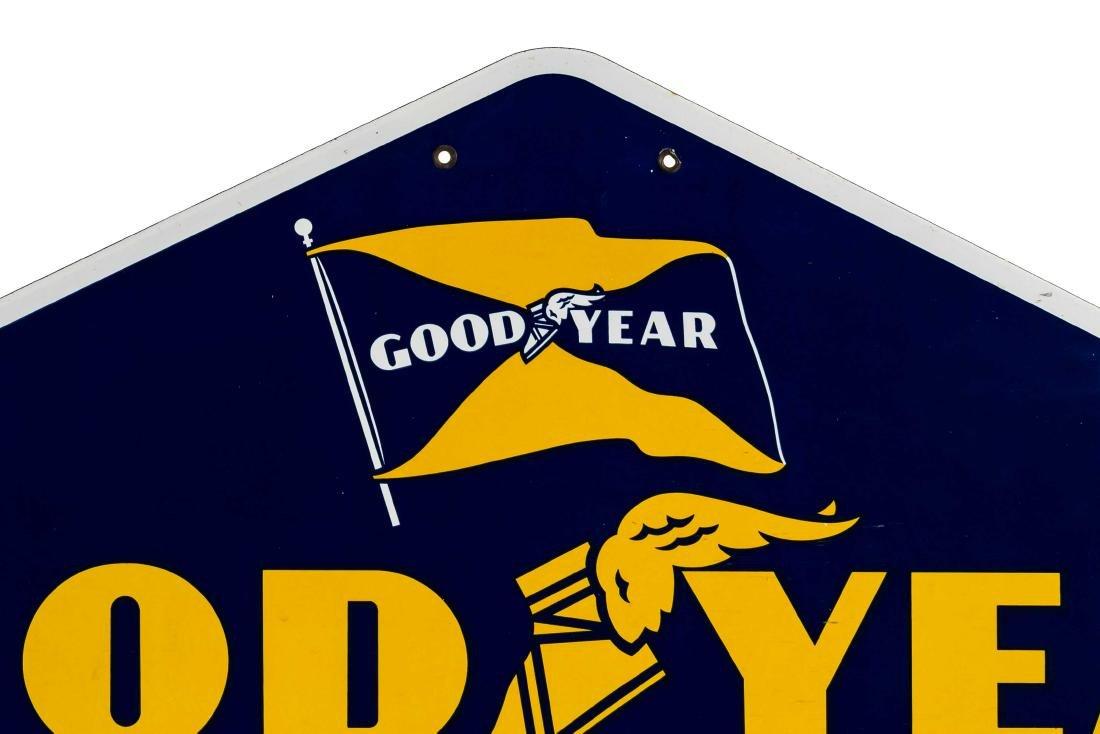 Goodyear Tires Porcelain Diamond Sign - 2