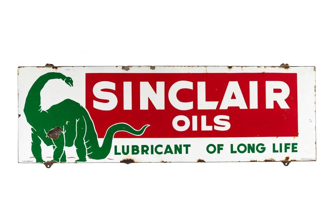 Sinclair Oils Horizontal Porcelain Sign