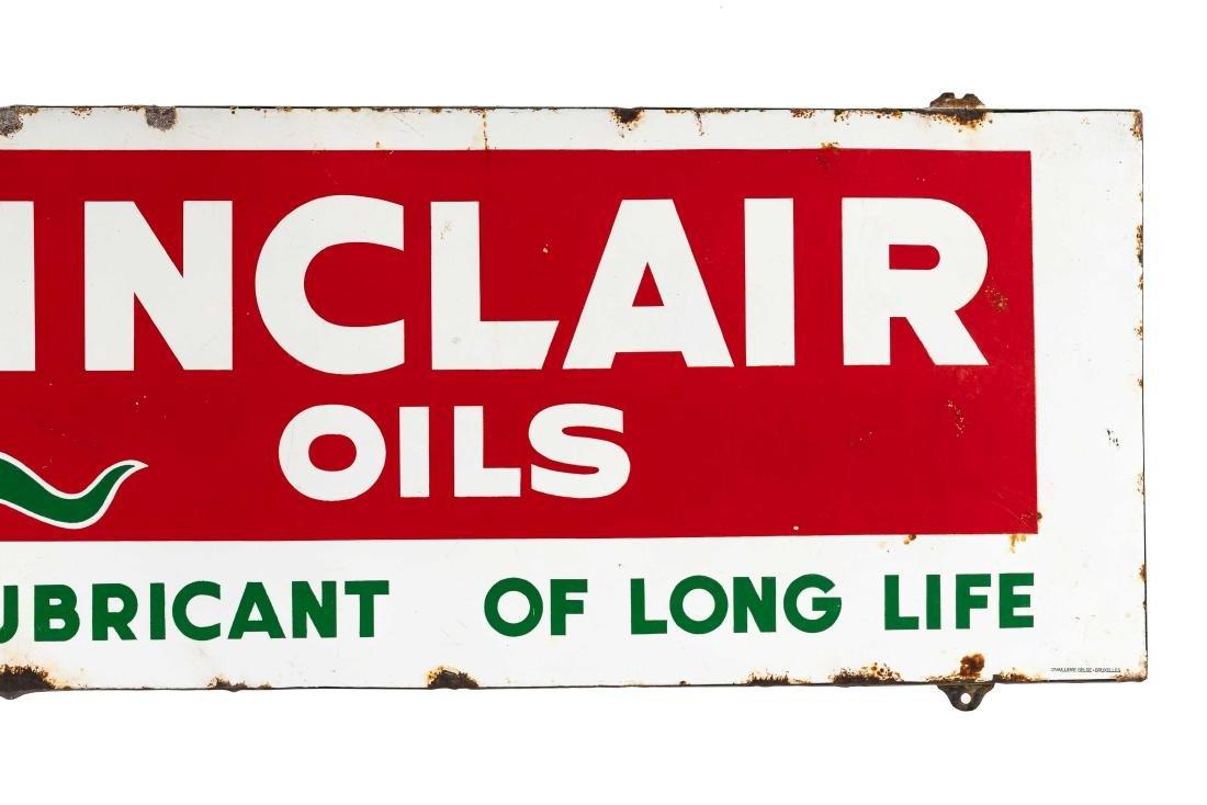 Sinclair Oils Horizontal Porcelain Sign - 3