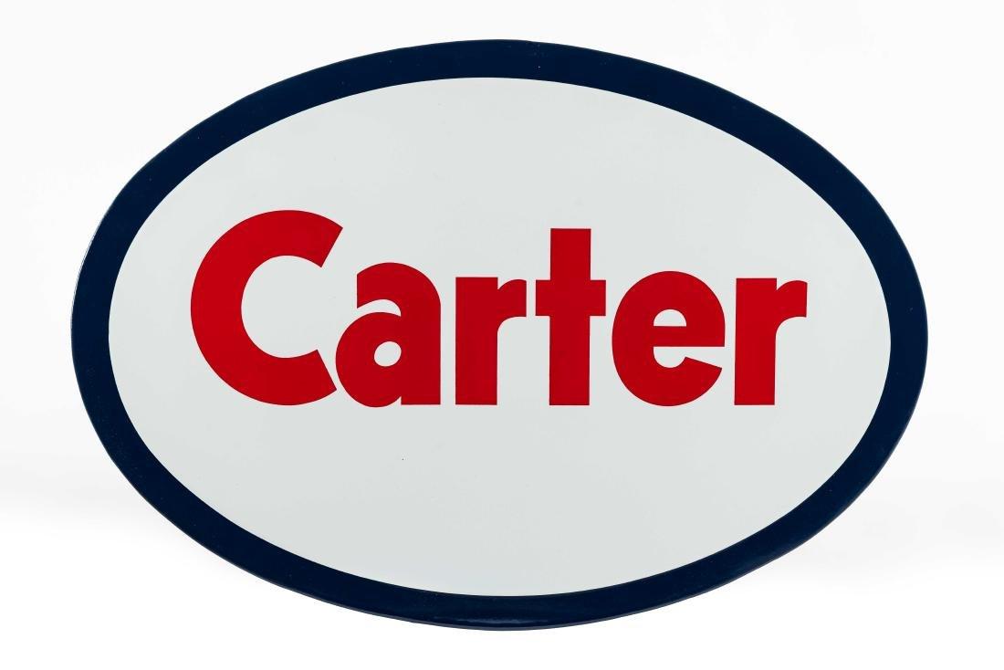 Carter Porcelain Truck Sign