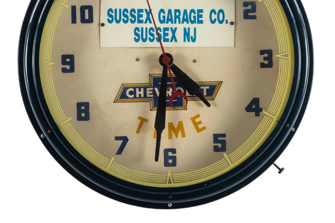 Chevrolet Dealership Neon Clock - 3