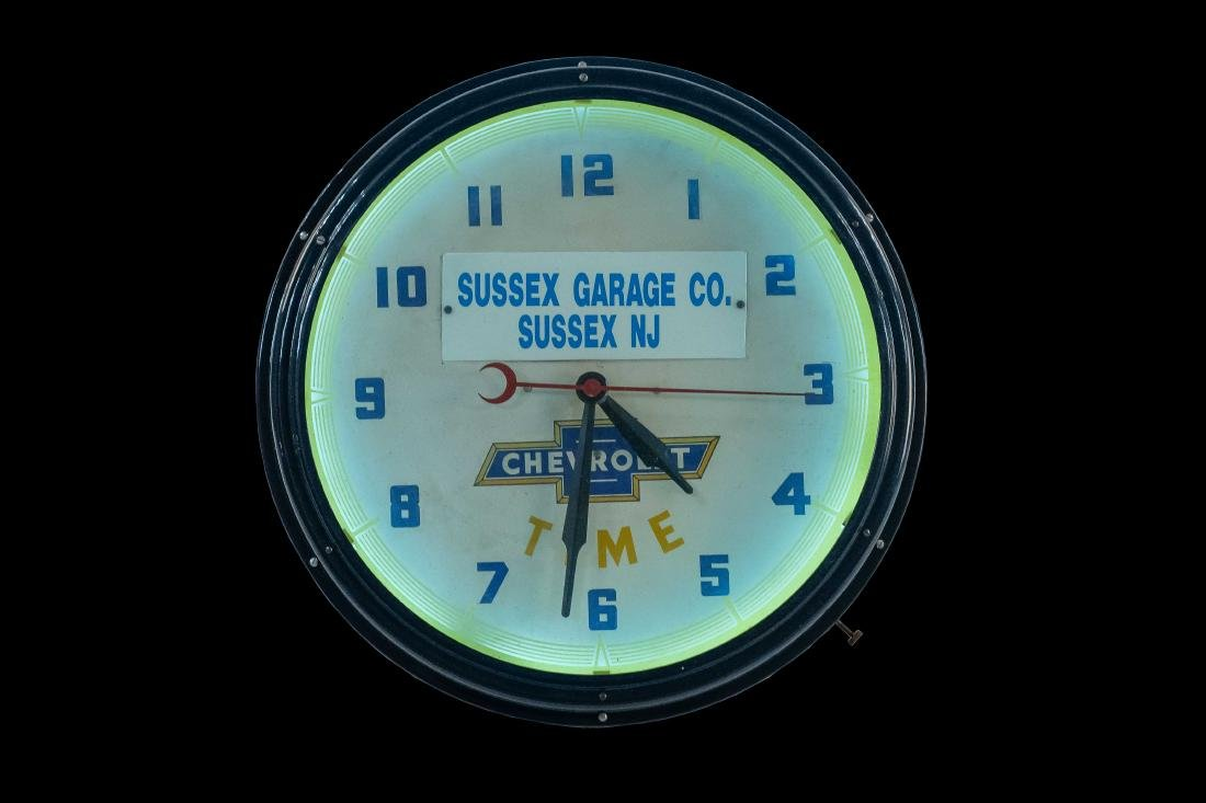Chevrolet Dealership Neon Clock - 4