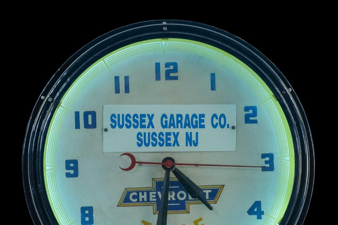Chevrolet Dealership Neon Clock - 5