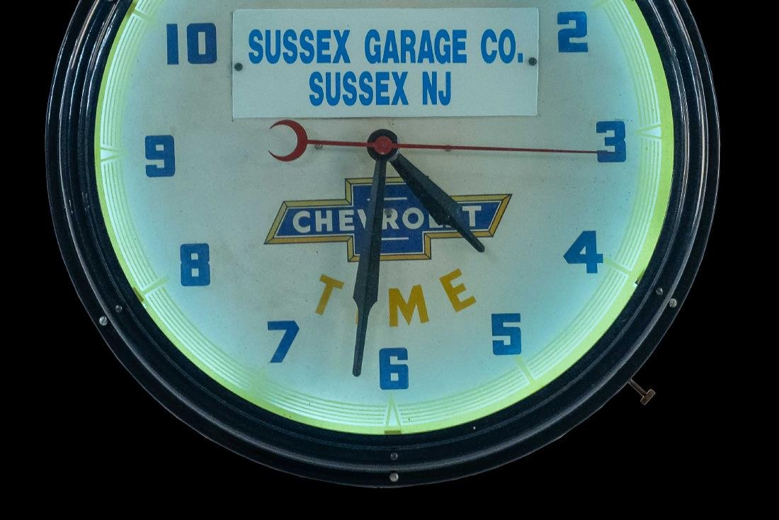 Chevrolet Dealership Neon Clock - 6