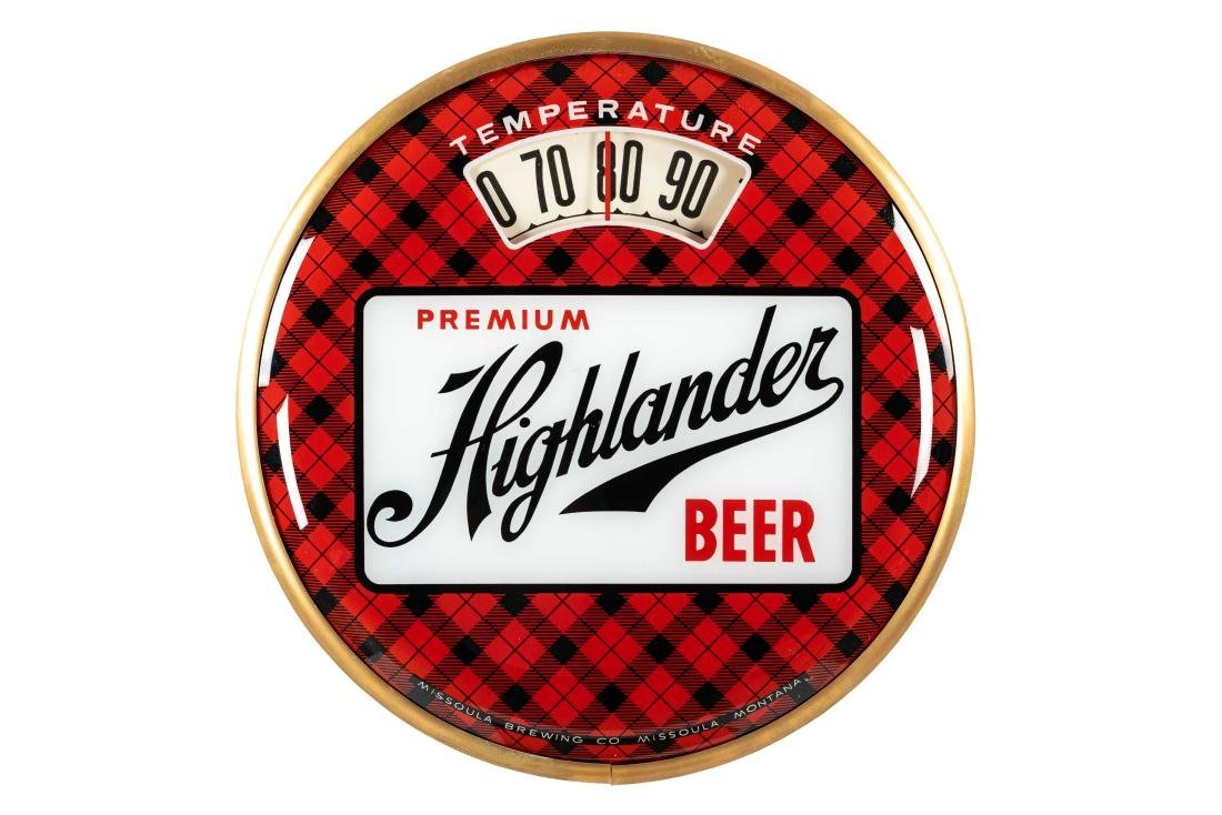 Premium Highlander Beer Bubble Thermometer