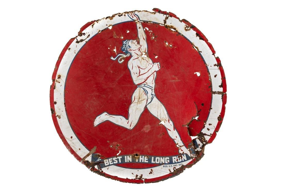 Marathon Best In The Long Run Porcelain Sign