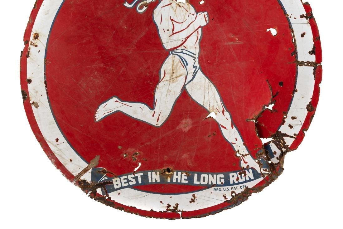 Marathon Best In The Long Run Porcelain Sign - 3