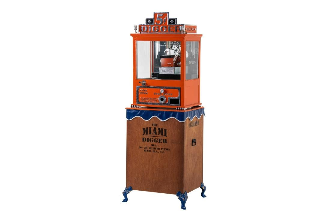 1932 Coin Op Miami Digger Claw Machine