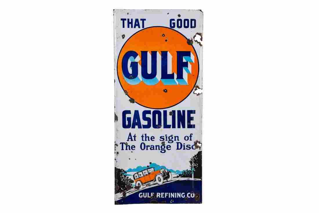 Gulf Gasoline Lighthouse Sign
