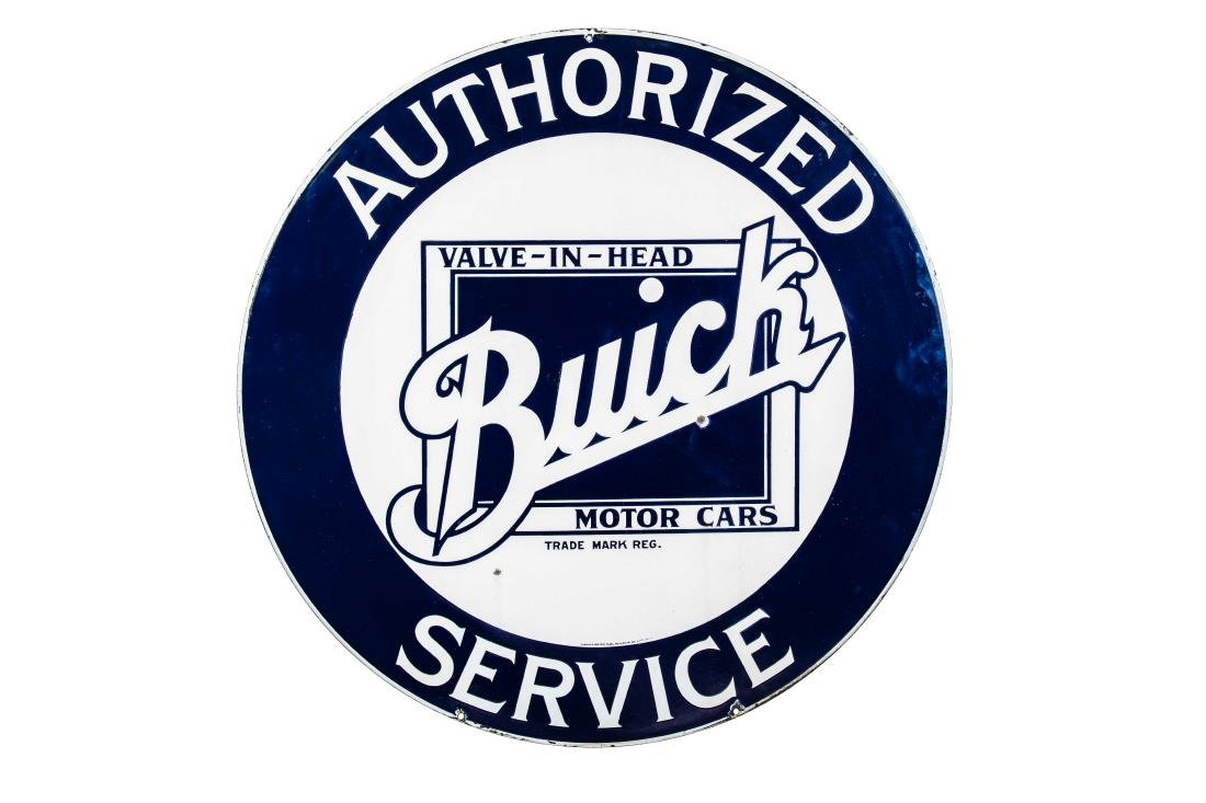 Early Buick Authorized Service Porcelain Sign