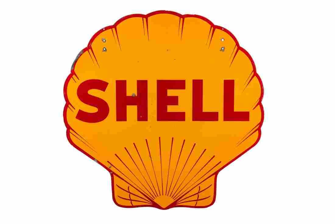 Shell Pecten Porcelain Sign