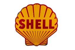 "Rare 60"" Shell Pecten Porcelain Sign"