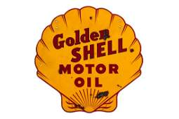 Golden Shell Motor Oil Porcelain Sign