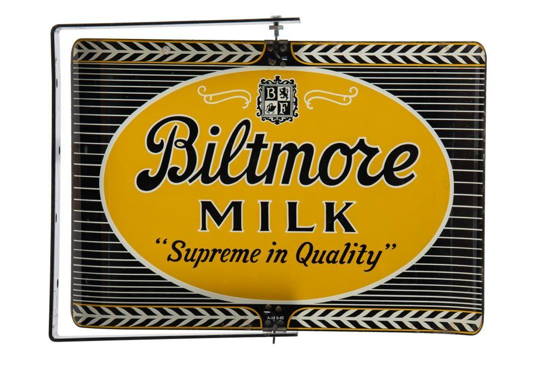 Biltmore Milk Spinning Flange Sign