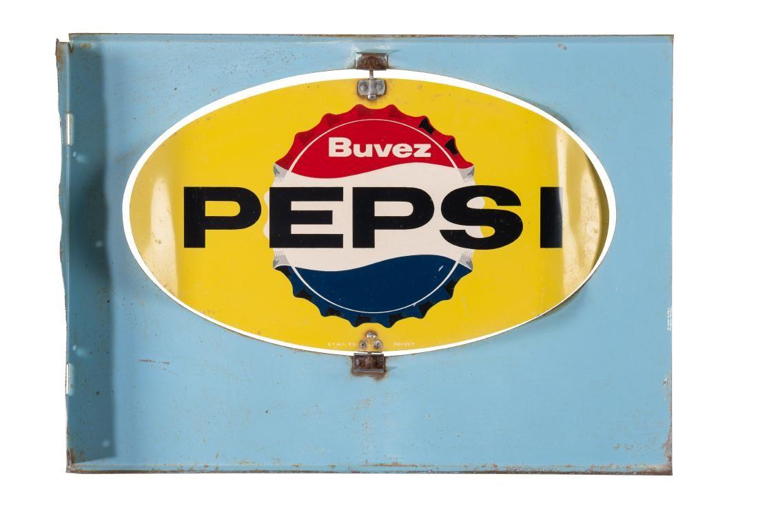 Pepsi Tin Spinner Flange Sign