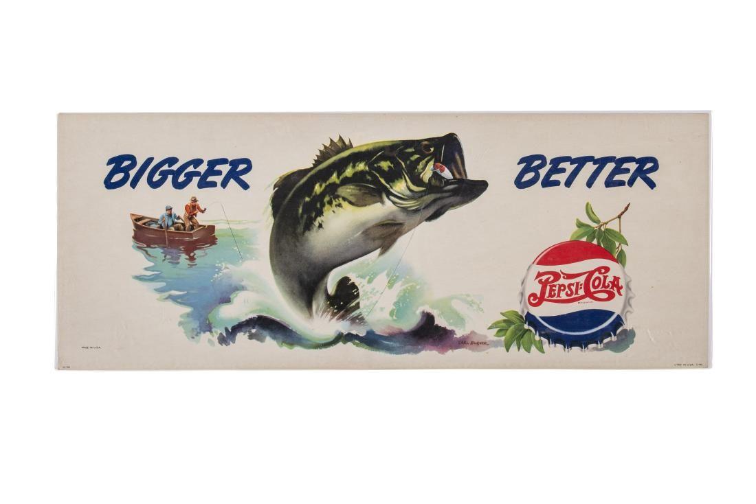 Pepsi:Cola Bigger Better Cardboard Sign