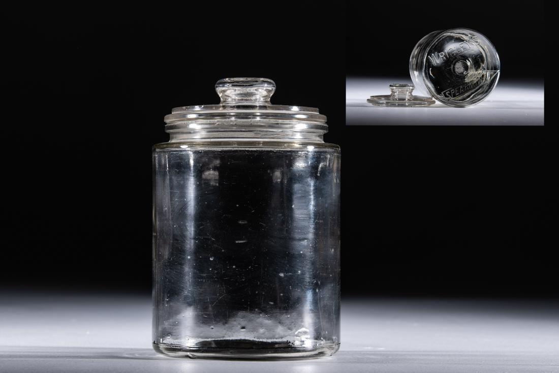 Wrigley's Spearmint Glass Gum Jar