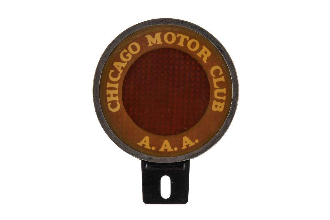 Chicago Motor Club License Plate Topper