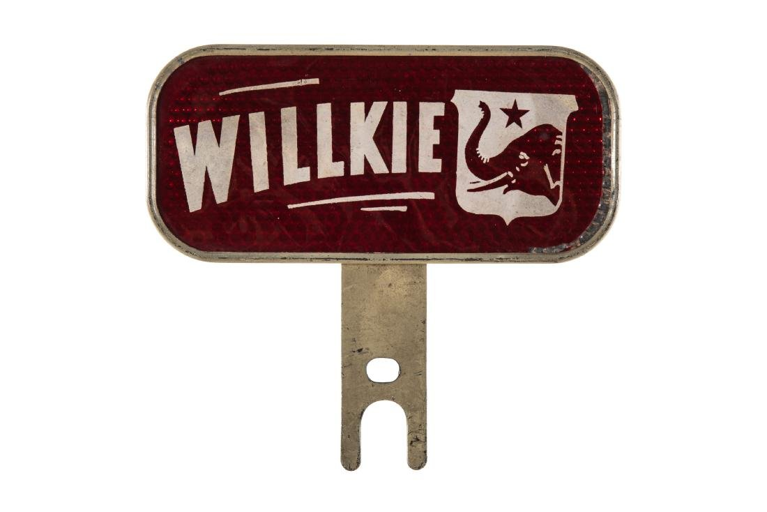 Willkie License Plate Topper