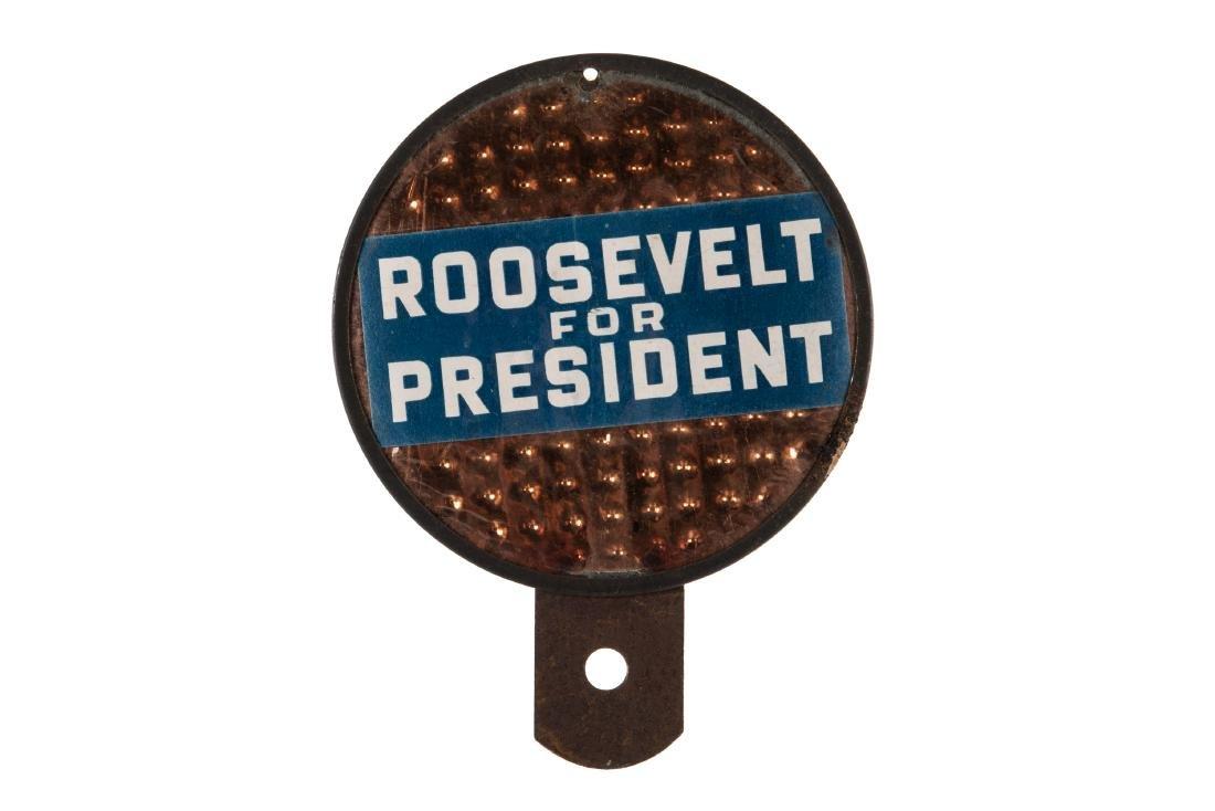 Roosevelt For President License Plate Topper