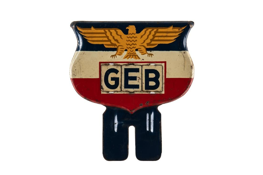 GEB License Plate Topper