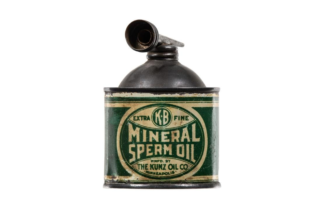 Early Kunz Mineral Oil Can