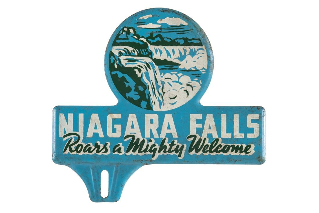 Niagra Falls Tin License Plate Topper