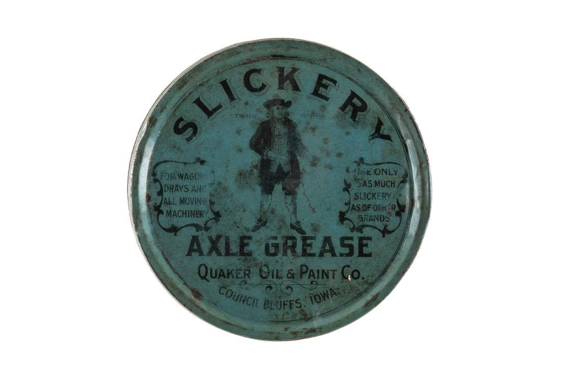 Early Quaker Oil Slickery Axle Grease Can
