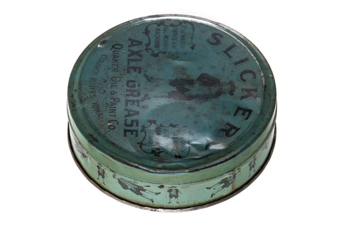 Early Quaker Oil Slickery Axle Grease Can - 2