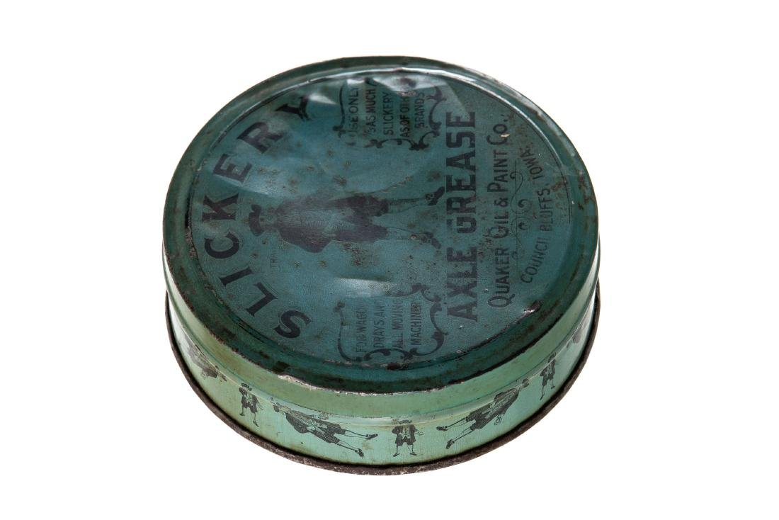 Early Quaker Oil Slickery Axle Grease Can - 3