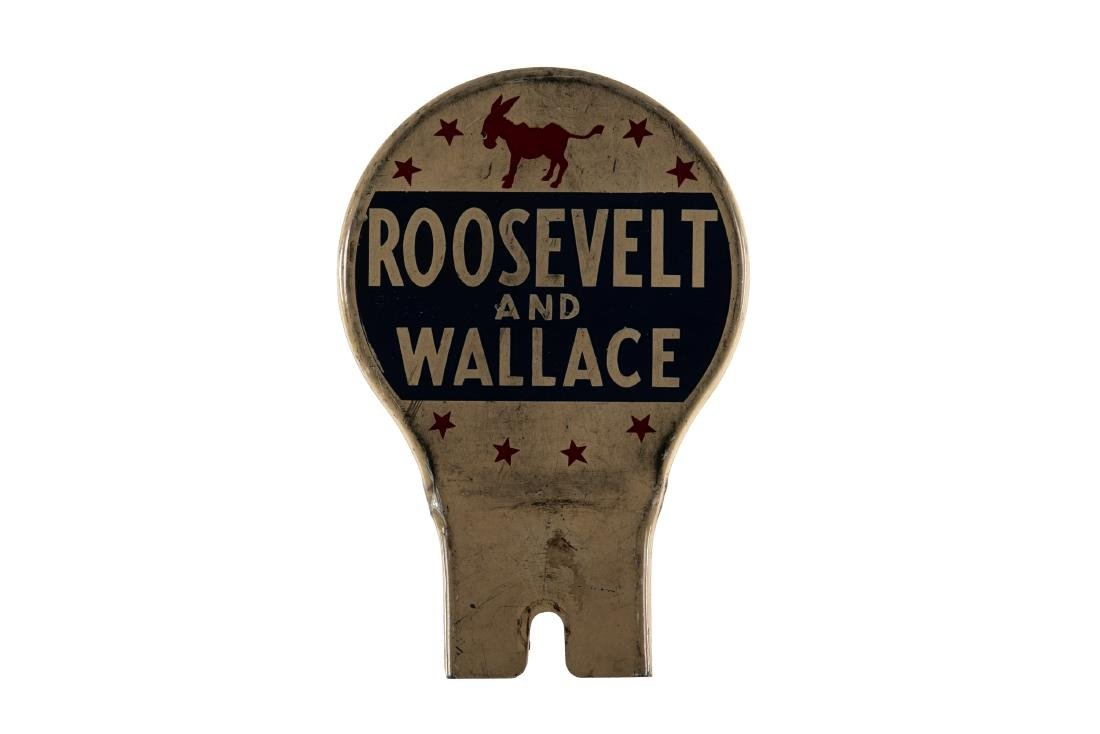 Roosevelt & Wallace License Plate Topper