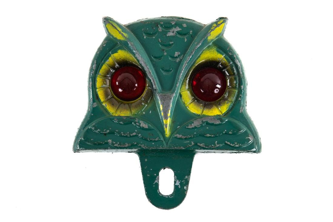 Rare Owl License Plate Topper