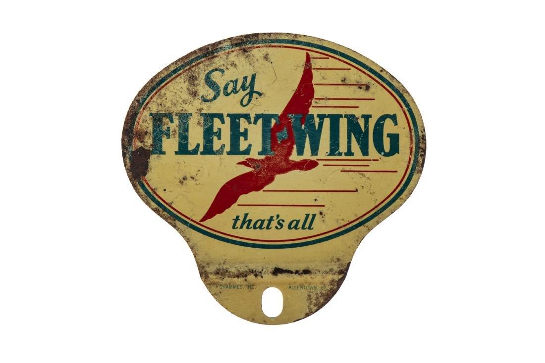 Fleet-Wing Gasoline License Plate Topper