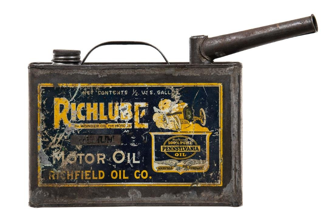 Rare Early Richfield Motor Oil Can