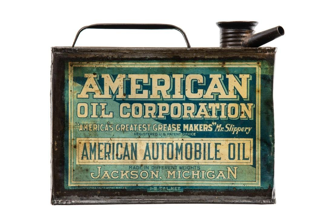 Early American Oil Motor Oil Can
