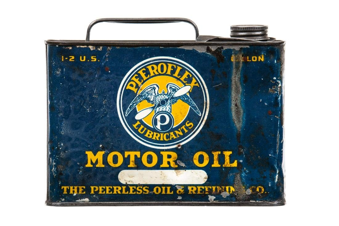 Rare Peerless Peeroflex Motor Oil Can