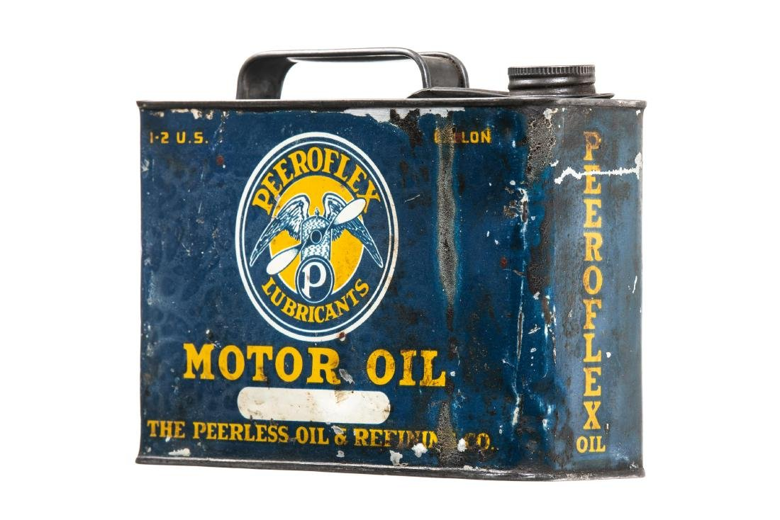 Rare Peerless Peeroflex Motor Oil Can - 2