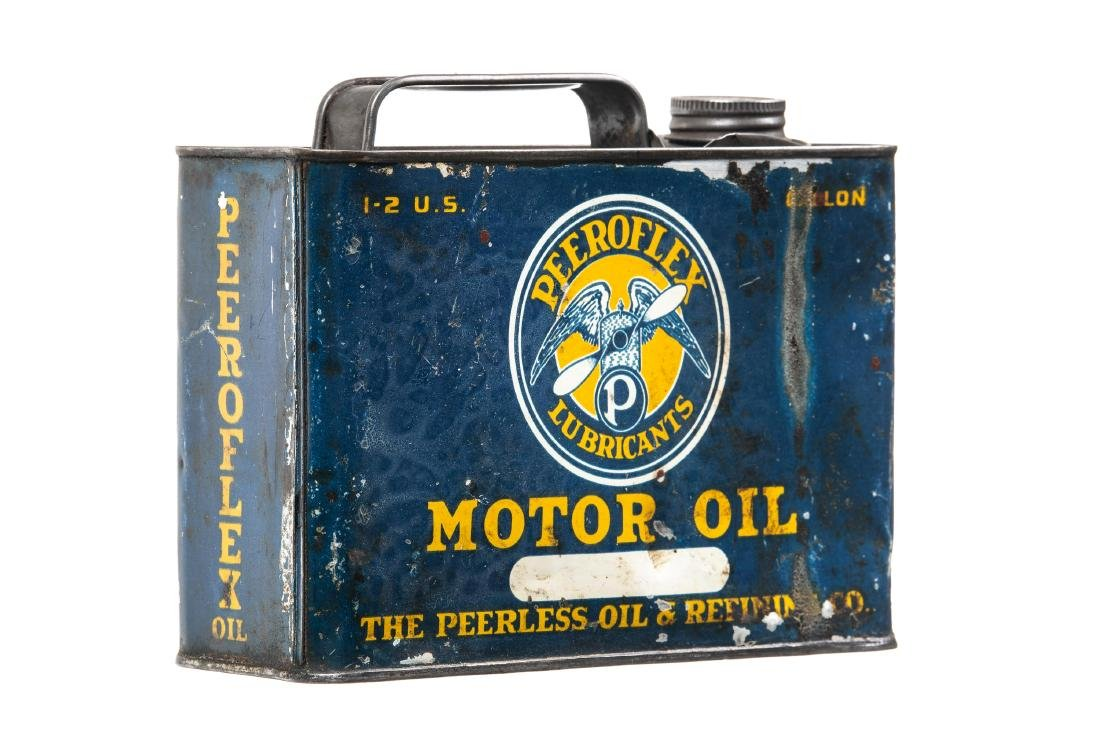 Rare Peerless Peeroflex Motor Oil Can - 3