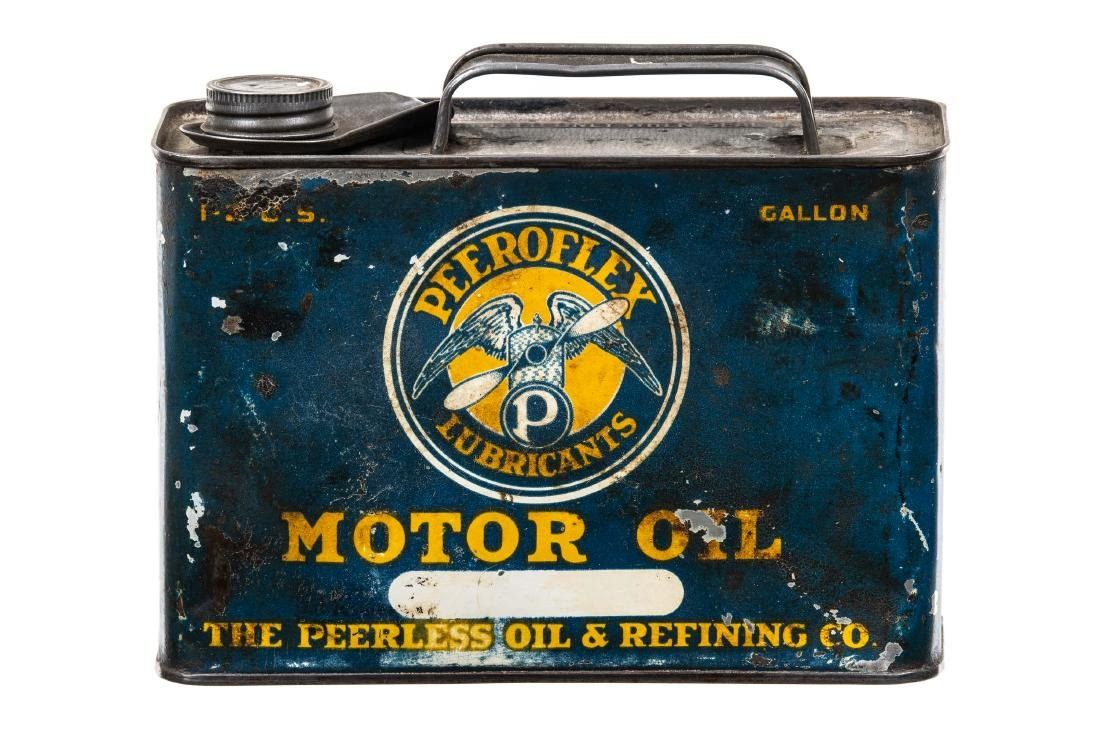 Rare Peerless Peeroflex Motor Oil Can - 5