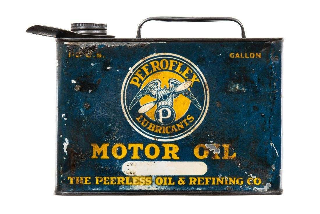 Rare Peerless Peeroflex Motor Oil Can - 6