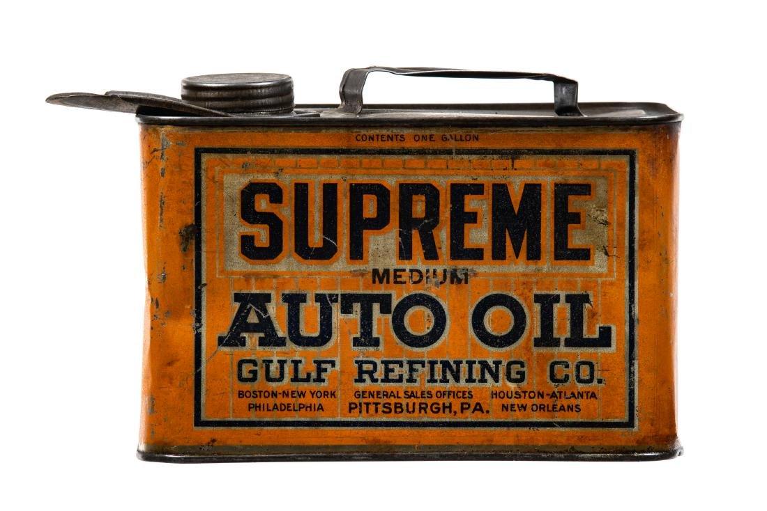 Gulf Gulflube Motor Oil Can