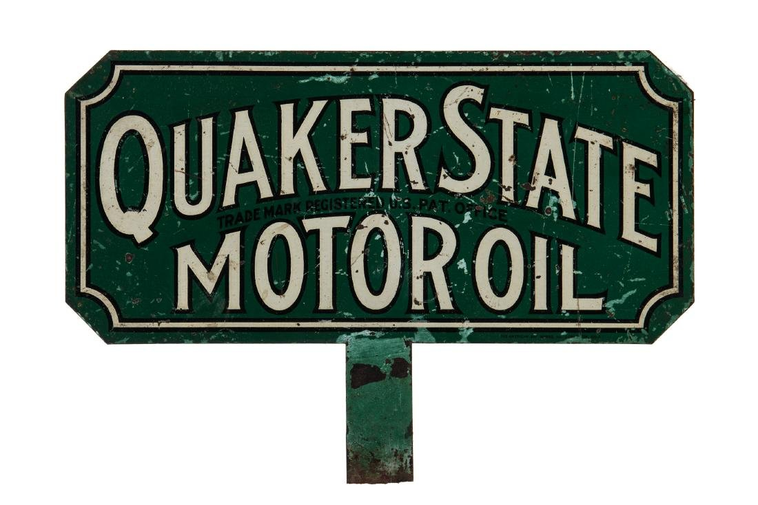 Quaker State Motor Oil Paddle Sign