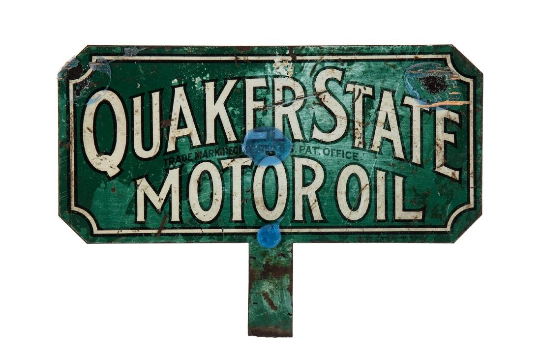 Quaker State Motor Oil Paddle Sign - 2