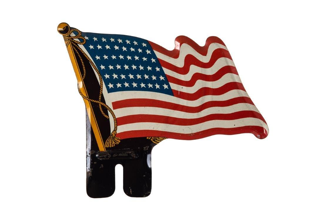 American Flag 48 Star License Plate Topper