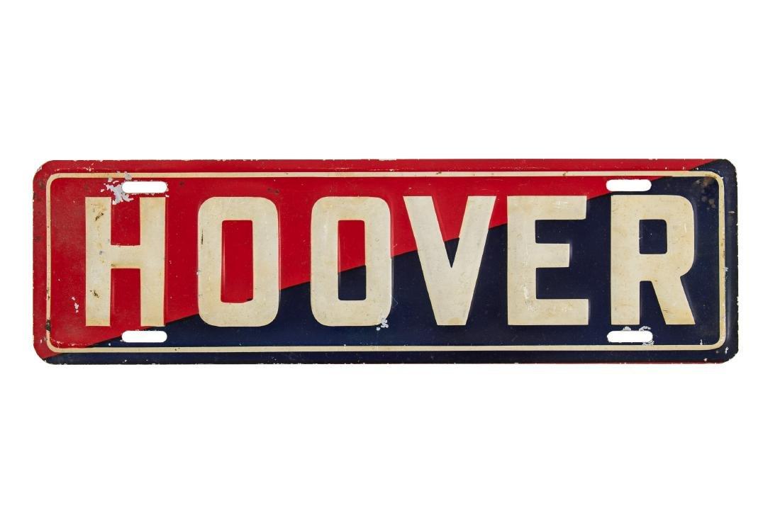Hoover License Plate Topper