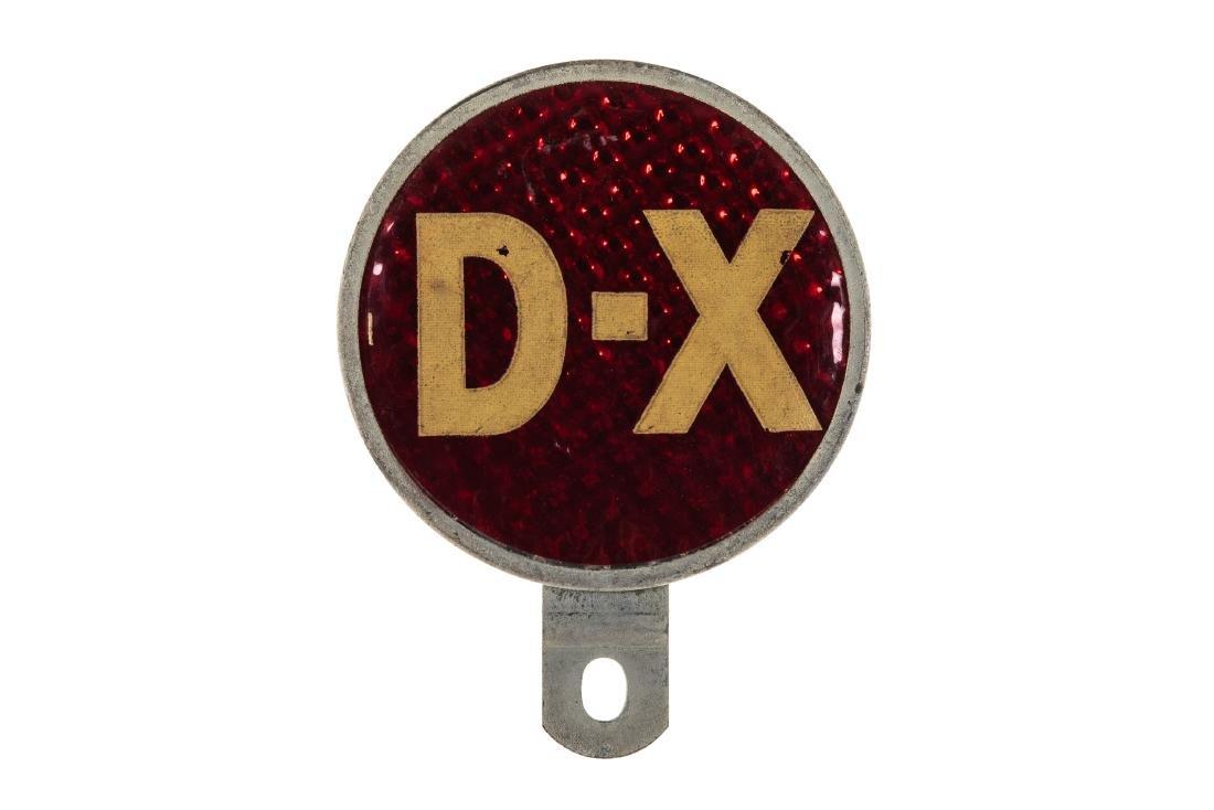 D-X Gasoline License Plate Topper