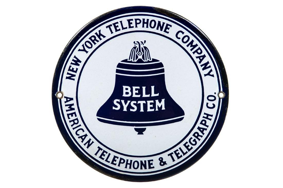 Bell System Telephone Porcelain Sign