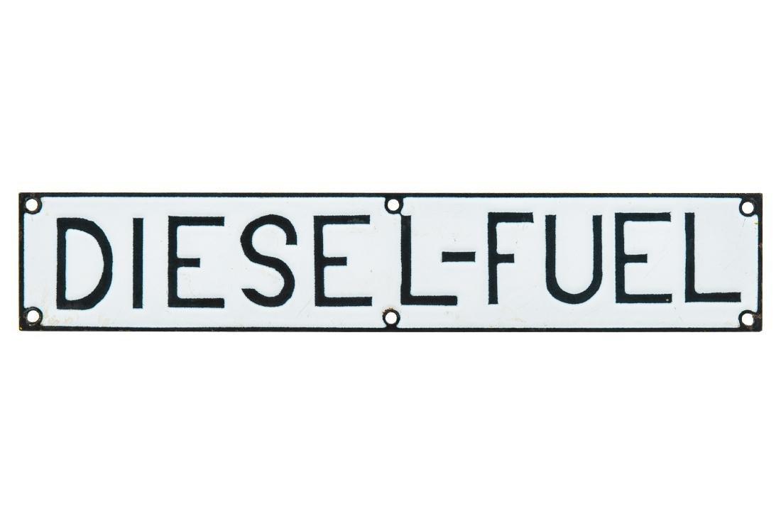 Diesel Fuel Porcelain Sign