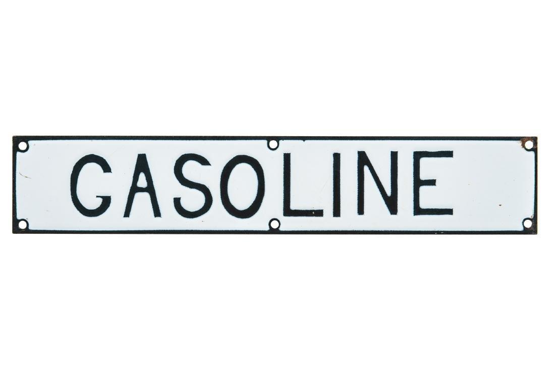 Gasoline Porcelain Sign